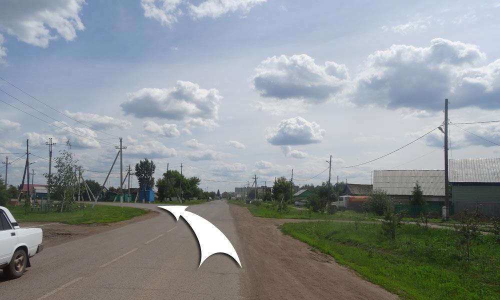 На следующем перекрестке поверните налево на улицу Комсомольская.
